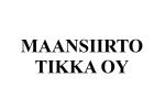 Maansiirto Tikka Oy